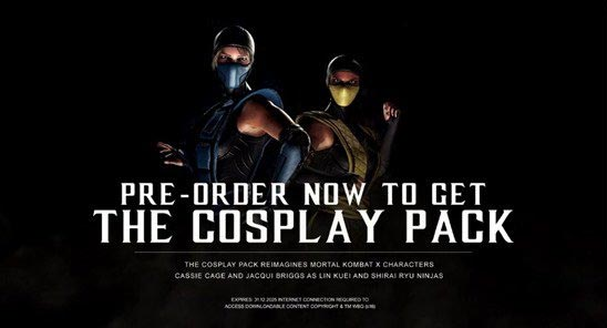Le cosplay pack bonus