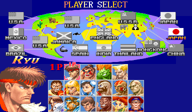 Super street fighter 2 character select