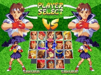 Street Fighter Alpha 2 character select